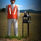 Man/Dog Letterbox by Josie Jackson