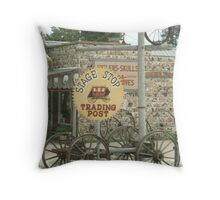 Stage Coach Trading Post Sign at Custer. Throw Pillow