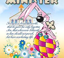 Ministor Easter Card - Easter Bunny Flowers  by Moonlake