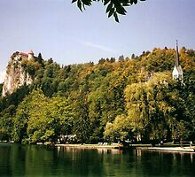 Bled (Slovenjia) End of August 2001 - The Castle and the lake by presbi