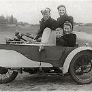 1948 Indian m/c & sidecar by Woodie