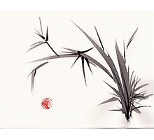 """Horizon""  original ink and wash bamboo sumi-e painting Photographic Print"