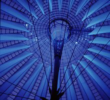 Potsdamplatz courtyard roof, Berlin, Germany by Clive Gross