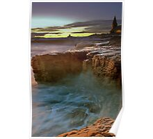 Gothic Sunset, Church Point, Northumberland Poster