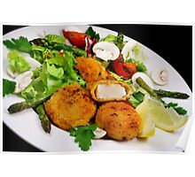 Salad and Coquilles Saint Jacques Poster