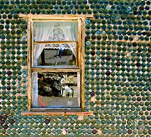 Rhyolite Bottle House Window by Zane Paxton