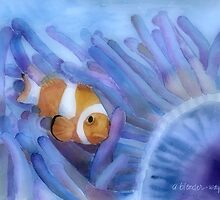 Clownfish And The Sea Anemone by arline wagner