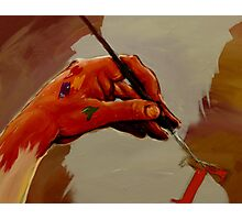 Hand Painted Painted Hand Painting Traditional Painting  Photographic Print