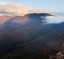 Sunset on Sugarloaf Peak Panorama by Will Hore-Lacy