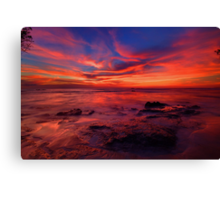 Pink Skyline Canvas Print