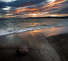 Flaming black sands by Ken Wright