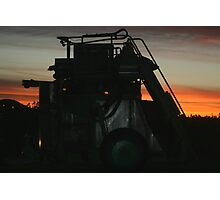 Grape Harvester at Work Photographic Print