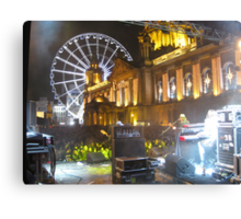 New Year Music at Belfast City Hall Canvas Print
