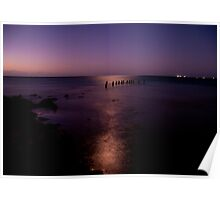Moonlight Reflections - Sims Cove, Yorke Peninsula, South Australia Poster