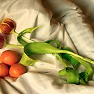 Fruits and flowers on the bed by Jim  Paredes