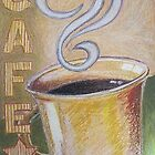 Cafe in Pastel by Christopher Clark