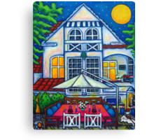 The Little Festive Danish House Canvas Print