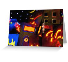 Banana Moon over Broadway Greeting Card