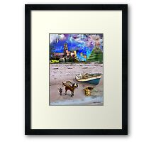 What Do Dogs Dream?  Framed Print