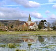 Alfriston Church by mikebov