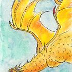 In Flight - ACEO Watercolor Pen & Ink Illustration by Jacquie Gouveia