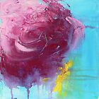 Floating Rose - Contemporary Acrylic Painting by Jacquie Gouveia
