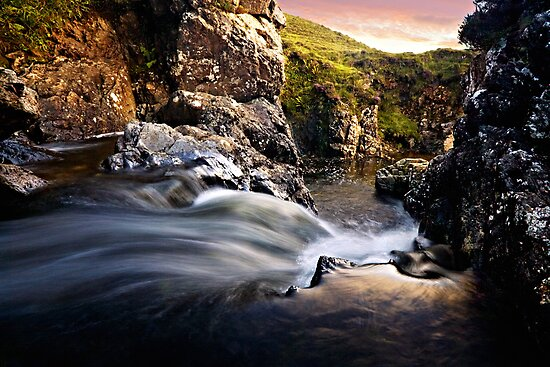 Allt Aisridh - Waterfall, Isle of Skye by David Lewins LRPS