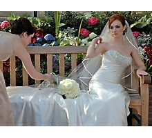 A Bride And Her Maid Of Honor Photographic Print
