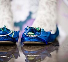blue *party* shoes by Emma Collins