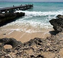Lighthouse Point, North West shoreline, Grand Cayman, Caribbean  by Geetha Alagirisamy