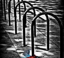 Don't steal my bike rack by kgphoto