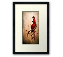 Girl in Red Framed Print