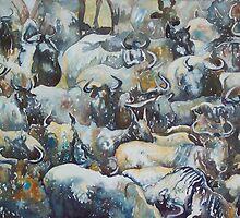 Wilderbeast Patterns by scallyart