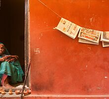 Home. Varanasi by Claude  Renault