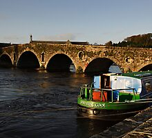 Barge and Bridge, River Barrow, Graiguenamanagh, Co. Kilkenny, Ireland by Andrew Jones