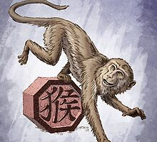 Year of the Monkey Card by Stephanie Smith