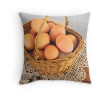 Eggs in a Basket Throw Pillow