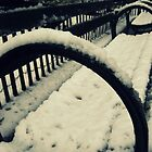 Snowy Seat - New York City by mackography