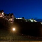 RAMSAY GARDENS & EDINBURGH CASTLE by Chris Clark