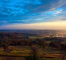 Bathurst sunrise from Mount Panorama by Dana Sibera
