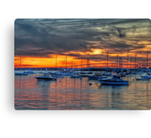 Sunset over Marina Canvas Print