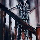 Mother on staircase by Laura  Carey