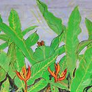 Thai leaves blowing in the Breeze. by James Lewis Hamilton