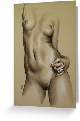 Charcoal Nude Female by Sarah  Mac