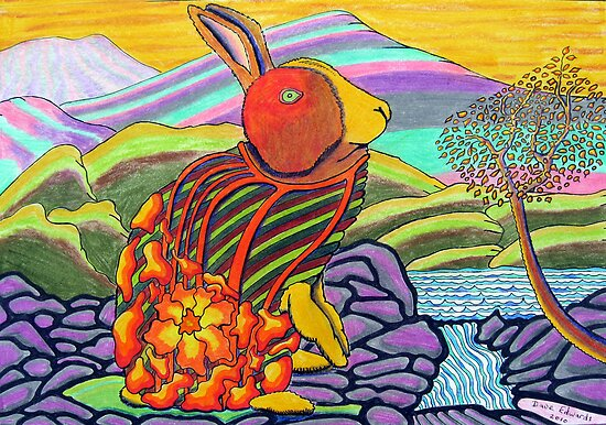 298 - TIFFANY BUNNY - DAVE EDWARDS - COLOURED PENCILS AND INK - 2010 by BLYTHART