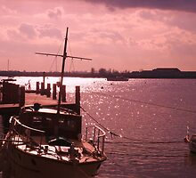 Pink Sunset Boat - Burnham-On-Crouch, UK by MichelleRees