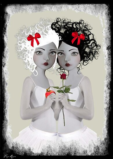 Snow White & Rose Red by Tanya  Mayers
