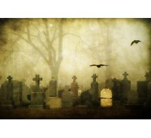 Foggy Cemetery  Photographic Print