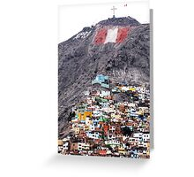 Colour on the Hill, Lima - Peru Greeting Card
