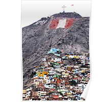 Colour on the Hill, Lima - Peru Poster